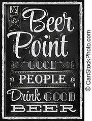 Tiza de cerveza de punto postal