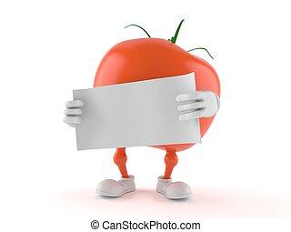 tomate, blanco, papel, carácter