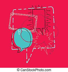 Tormenta cerebral / discusión o charla y burbujas de habla