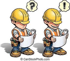 Trabajador de construcción, plan de lectura