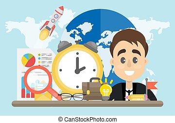 Trabajo global de empresarios.