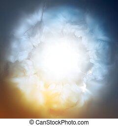 Trasfondo abstracto, el cielo divino