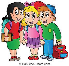 Tres niños felices