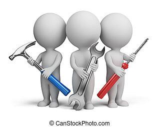 Tres pequeñas personas, reparadores