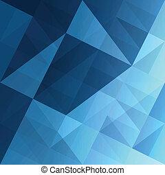 Triángulos de fondo azul. Vector, EPS10