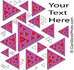 Triángulos flotantes, ilusión de movimiento