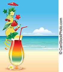 tropical, cocktai