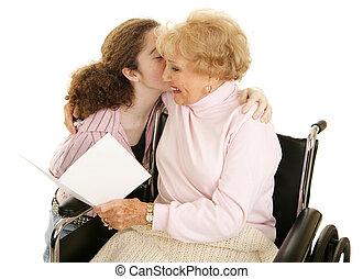 Un beso para la abuela