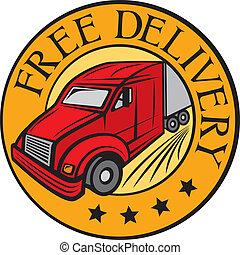 Un camión de reparto gratis
