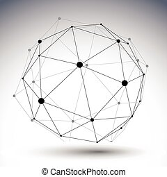 Un color abstracto esférico rayado de ilustración 3D, vector di