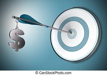 Un concepto de dólar, asesor financiero o asesor financiero