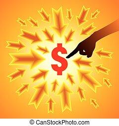 Un concepto de dólar