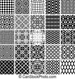 Un conjunto de patrones geométricos.