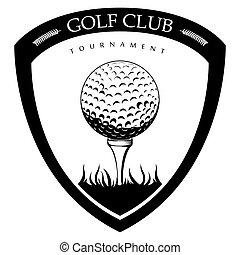 Un emblema de golf aislado