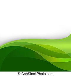 Un fondo abstracto de naturaleza verde