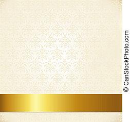 Un fondo de damasco beige