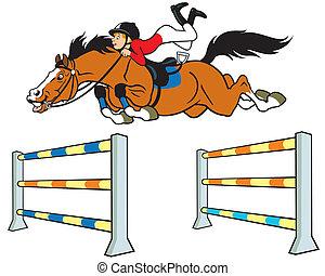 Un jinete de caballos