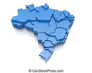 Un mapa tridimensional de Brasil