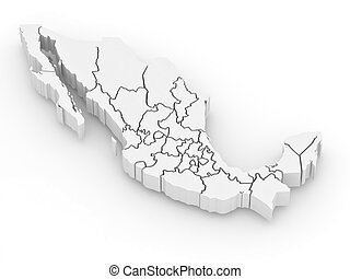 Un mapa tridimensional de México