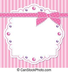Un marco rosa con arco