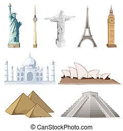 Un monumento famoso alrededor del mundo