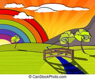 Un paisaje colorido