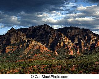 Un paisaje de la naturaleza escénica de Sandstone