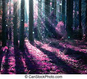 Un paisaje fantástico. Bosque misterioso