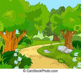 Un paisaje forestal