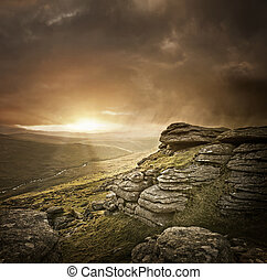 Un paisaje salvaje dramático