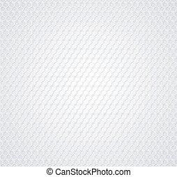 Un panal blanco de fondo gris