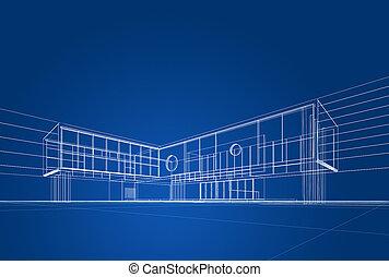 Un plano de arquitectura