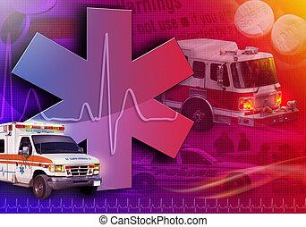 Una ambulancia de rescate médico foto abstracta