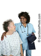 Una atención paciente amistosa
