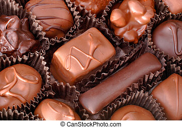 Una caja de chocolates