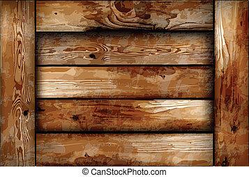 Una caja de madera frágil. Profundidad del vector