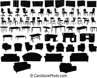 Una colección de muebles