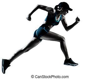 Una corredora corriendo