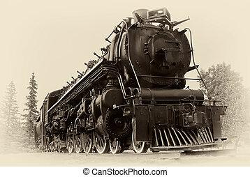 Una foto al estilo del tren de vapor