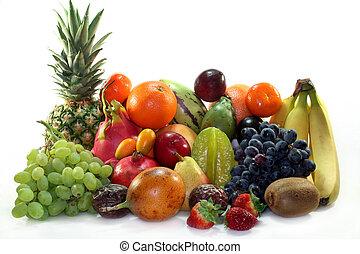Una mezcla de frutas