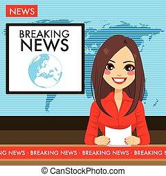 Una periodista de televisión