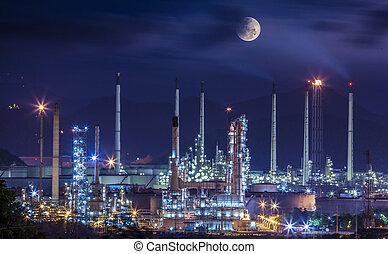Una planta industrial de refinería