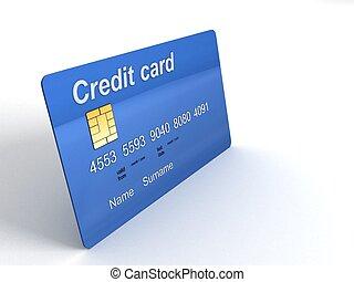 Una tarjeta de crédito tridimensional