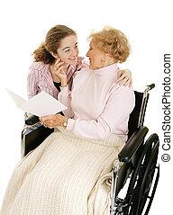 Una tarjeta de felicitación para la abuela