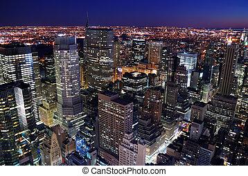 Urban City Skyline vista aérea