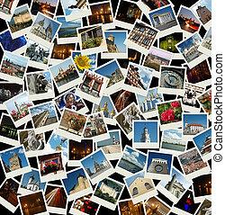 Vamos a Europa, fondo con fotos de viajes de monumentos europeos