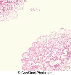 Vector color floral rosa