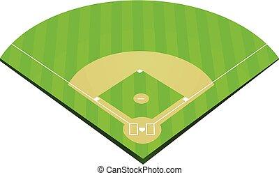 Vector de campo de béisbol
