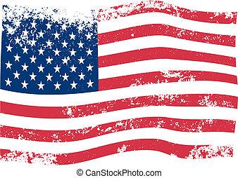 Vector de la bandera americana