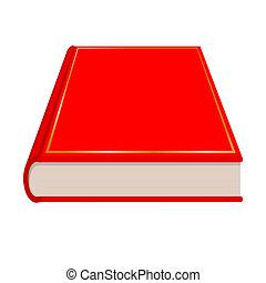 Vector de libro rojo
